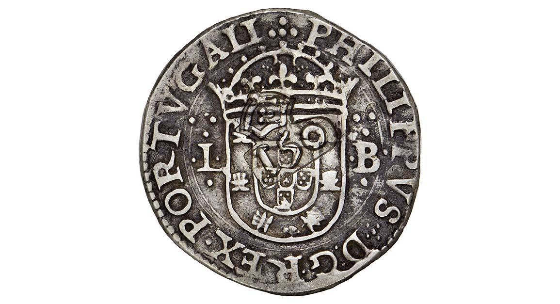 Tostao de Felipe III, Lisboa, dedicado al amigo jaenero 01foto_subasta