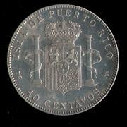 40 centavos de peso 1896. Alfonso XIII. Puerto Rico Puerto_Rico_40_001