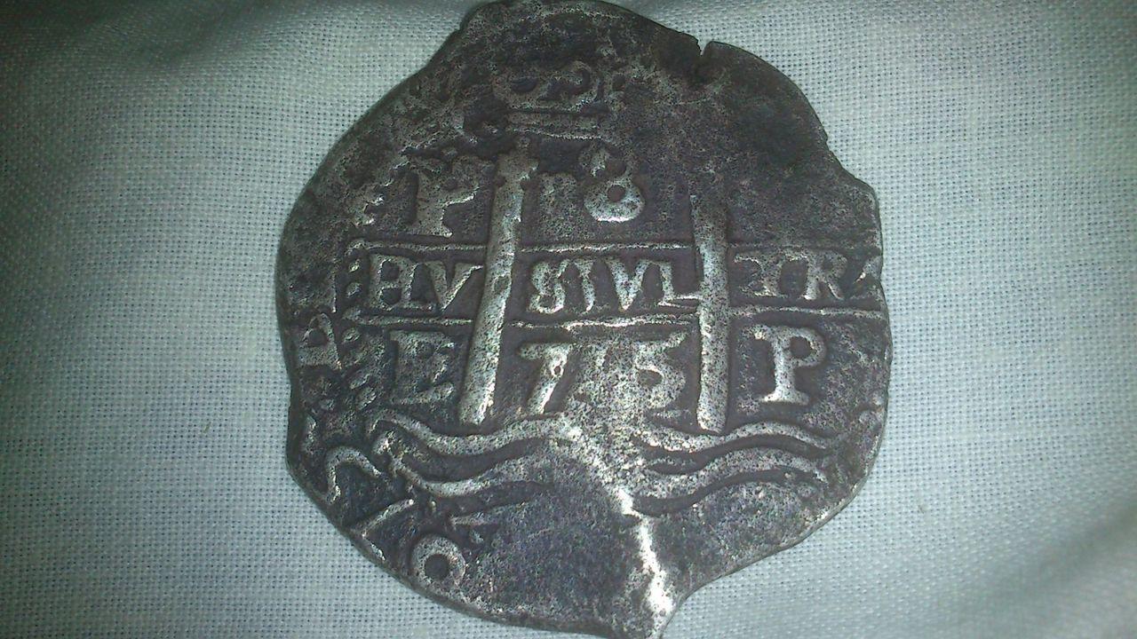 8 reales de Carlos II, Potosí, ensayador E. 111