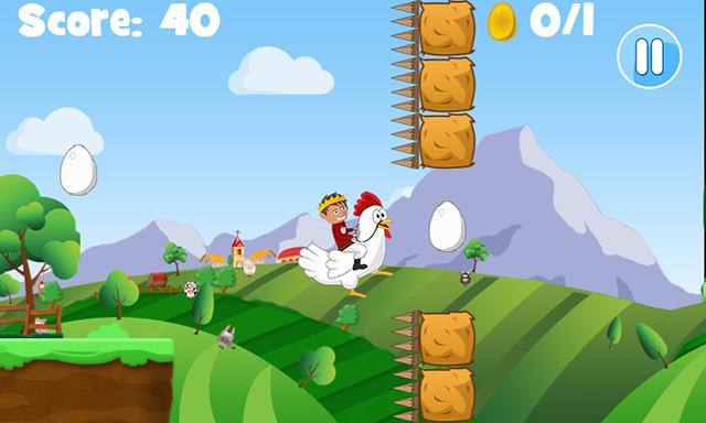 [JEU ANDROID - Chicken King Run] Jeu de plateforme [Gratuit] Image
