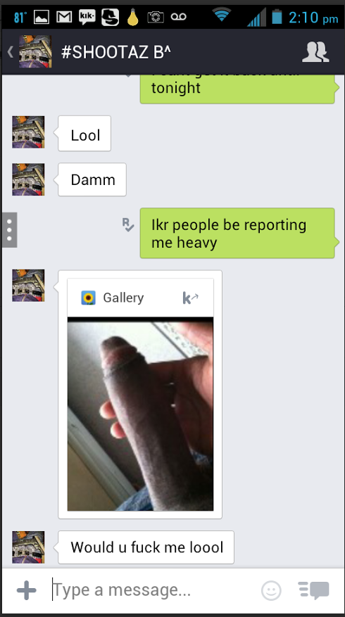 Black gays on kik