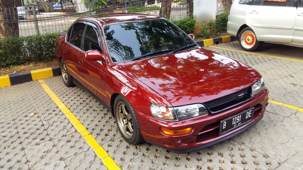 1995 Toyota Corolla AE101 Emerald Red Metallic 20151011_081749