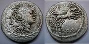 REPUBLICANAS - Página 2 M_Lucilius_Rufus_AR_Denarius_Rome_101_BC_Cra