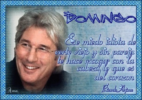 Richard Gere , con Frase Domingo