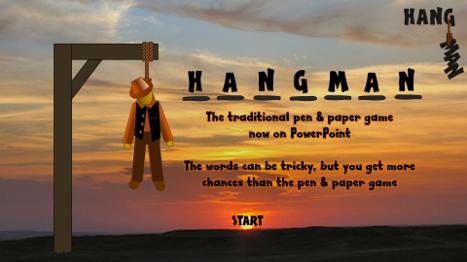 hangman - HANGMAN - The classic pen & paper game on PowerPoint Hangman_1
