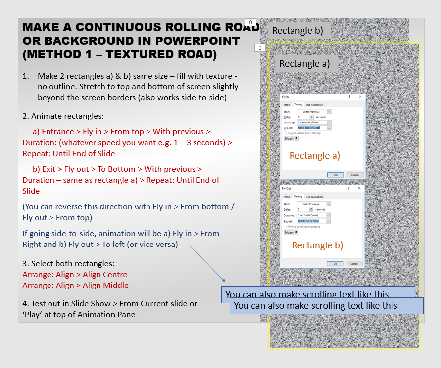 MAKE A ROLLING ROAD / BACKGROUND Rolling_Road_Tutorial_1