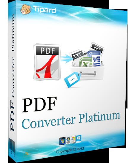 Tipard PDF Converter Platinum 3.3.12 Multilingual Bdba837252cc4b3a8b5dd7816b3