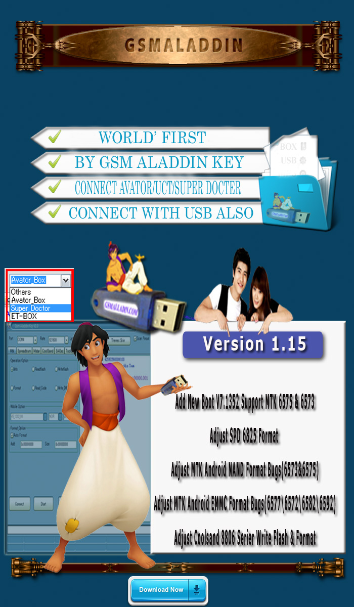 GSM ALADDIN CHINA TOOL 1.15 {Coolsand-SPD-MTK} (23th June 2014) Update Discussion Aladin