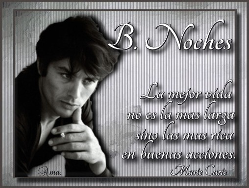 Alain Delon con Frase Noches