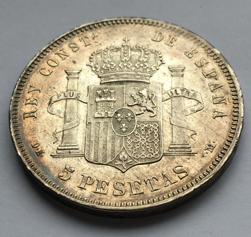 5 pesetas 1877. Alfonso XII IMG_9941
