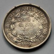 Bolivia - 50 cent. - 1894 DSC_5927