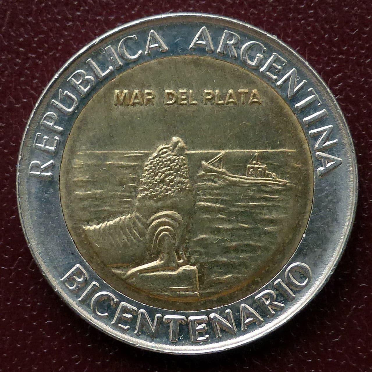 Argentina - Serie 1 peso - Bicentenario 1er