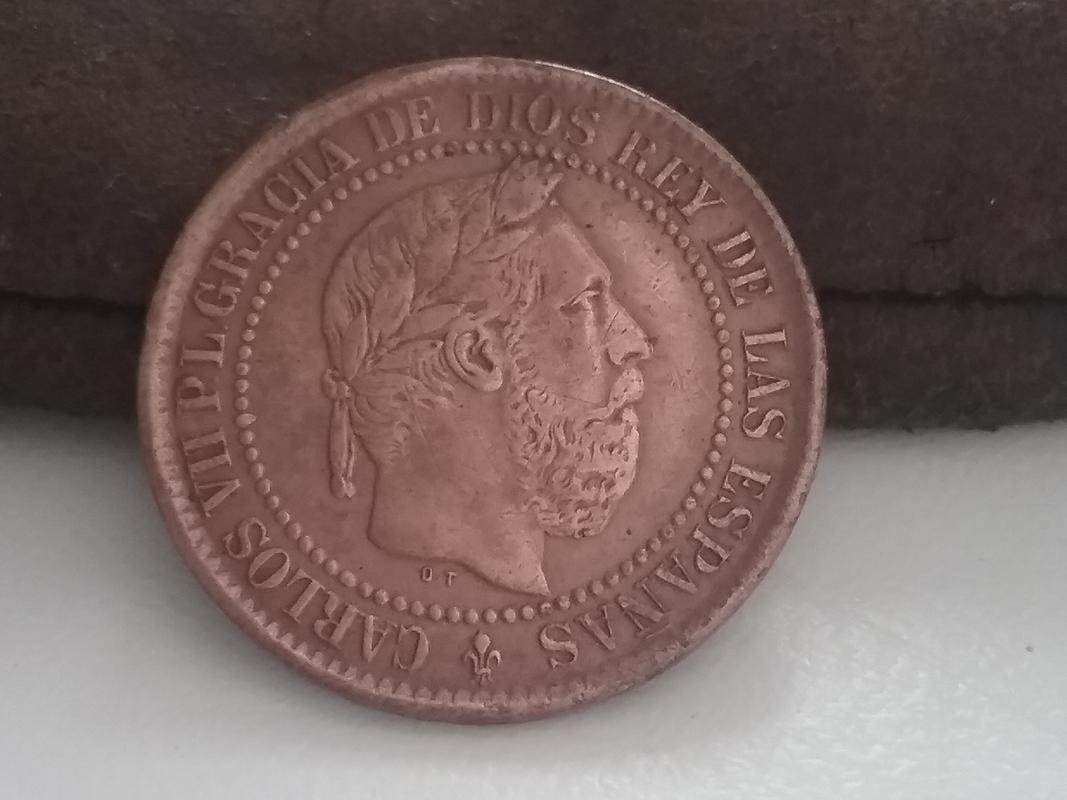 5 céntimos 1875. Carlos VII. Dedicados a REVERSO12 20170910_132741