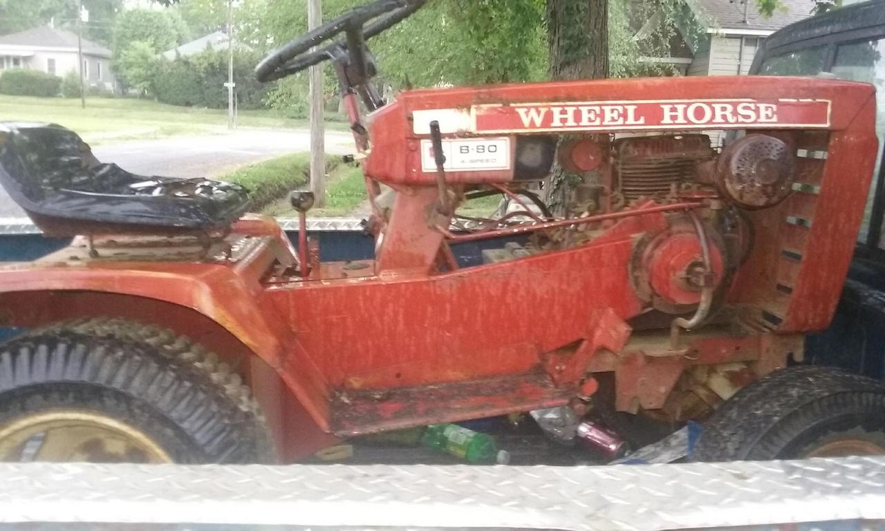 our 1st wheelhorse mud mower 32744758_764879137235357_1264157382296993792_n