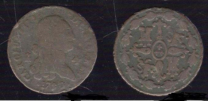 4 maravedis de carolus IV del año 1790 44252083