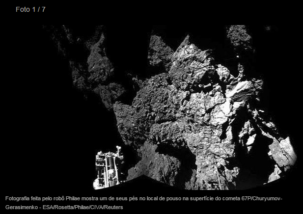Foto real do cometa Burn