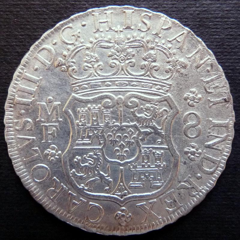 8 reales columnario de 1770. Ceca de México - Dedicado a Lanzarote y flekyangel P1240152