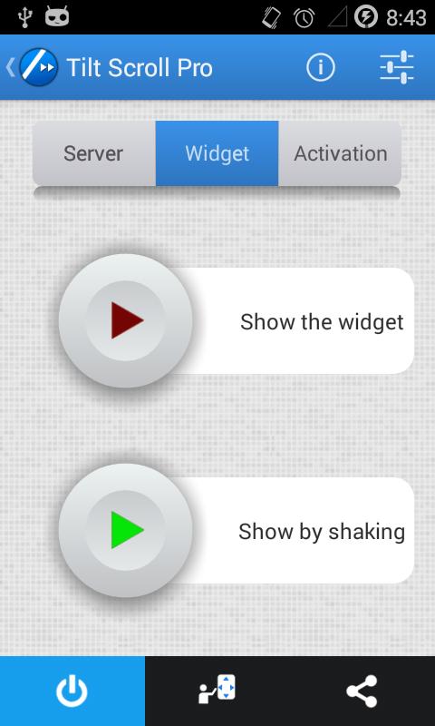 """[APPLICATION ANDROID - TILT SCROLL] Ajoute la fonctionnalité """"Défilement par inclinaison"""" à votre appareil [Gratuit] Screen2"""