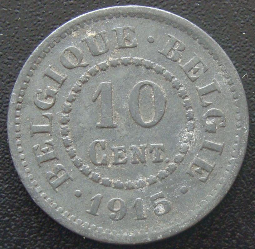 10 Céntimos de Franco. Bélgica (1915) BEL._10_C_ntimos_Franco_1915_-_rev