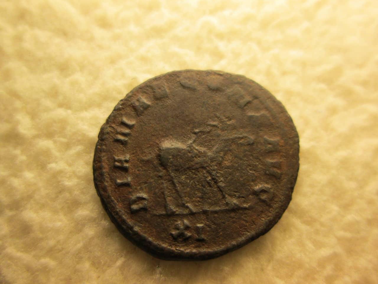 Antoniniano de Galieno. DIANAE CONS AVG. Antílope o gacela. IMG_1136