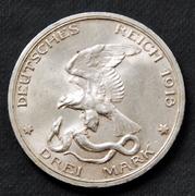 3 marcos - Alemania (Prusia) - 1913 - Dedicada al compañero Keko 3_marcos-1913-a