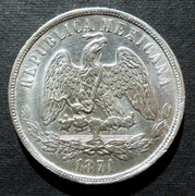1 peso - México - 1871 1_peso_M_-1871-ab