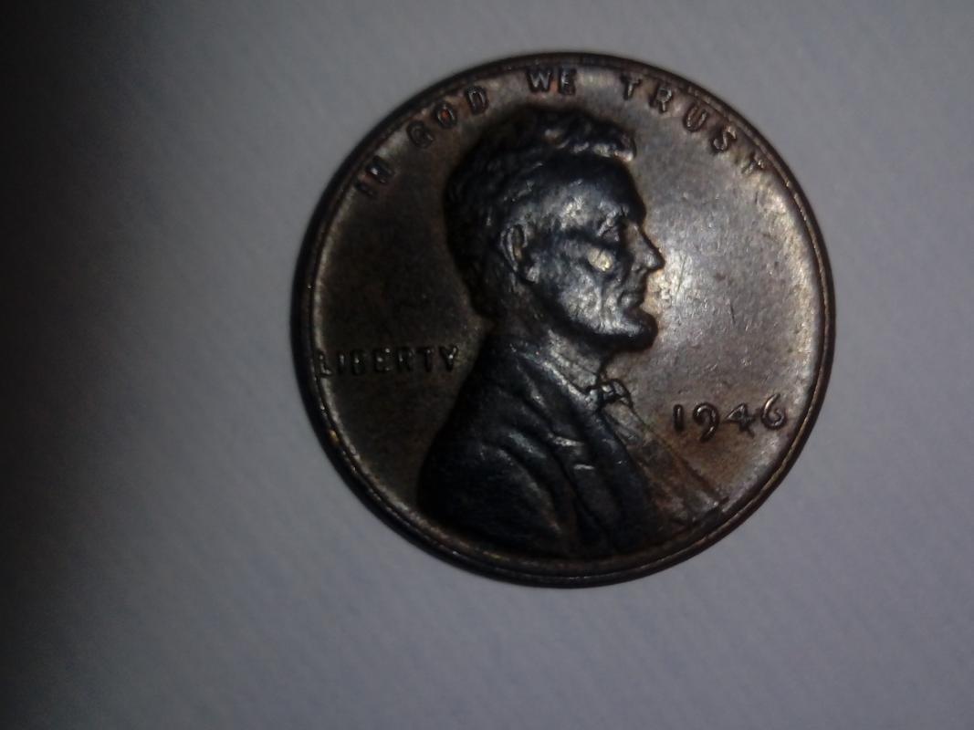 """Centavo de dólar de 1946 POSIBLE ERROR DE ACUÑACIÓN EN LA N DE """"CENT"""" DSC_0212"""