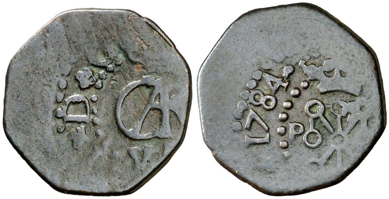 Maravedí de Carlos III, Pamplona. 1784. 0041
