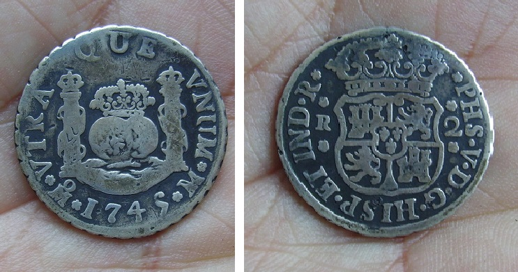 2 reales 1745. Felipe V. Méjico 260y0yf