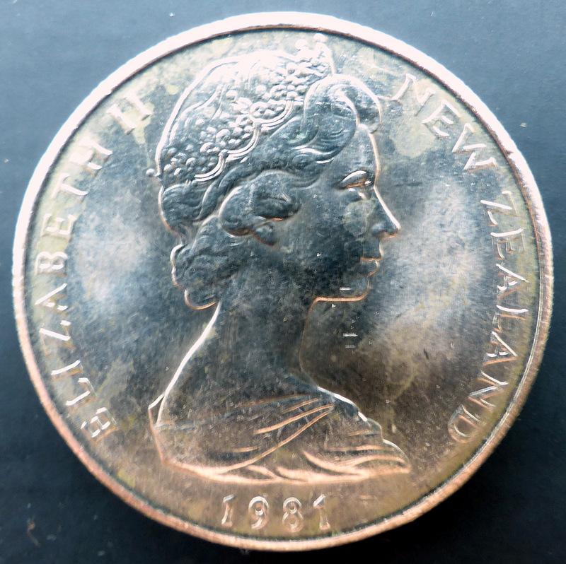 """Nueva Zelanda - 50 cents. - 1981 - """"Endeavour"""" 50_cents_r"""