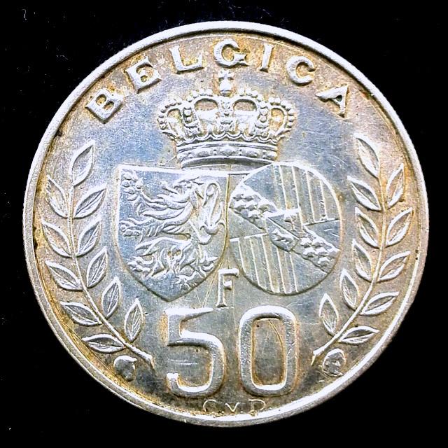 Bélgica - 50 F - 1960 - Boda rey Balduino y Fabiola B_lgica_50_francos_r