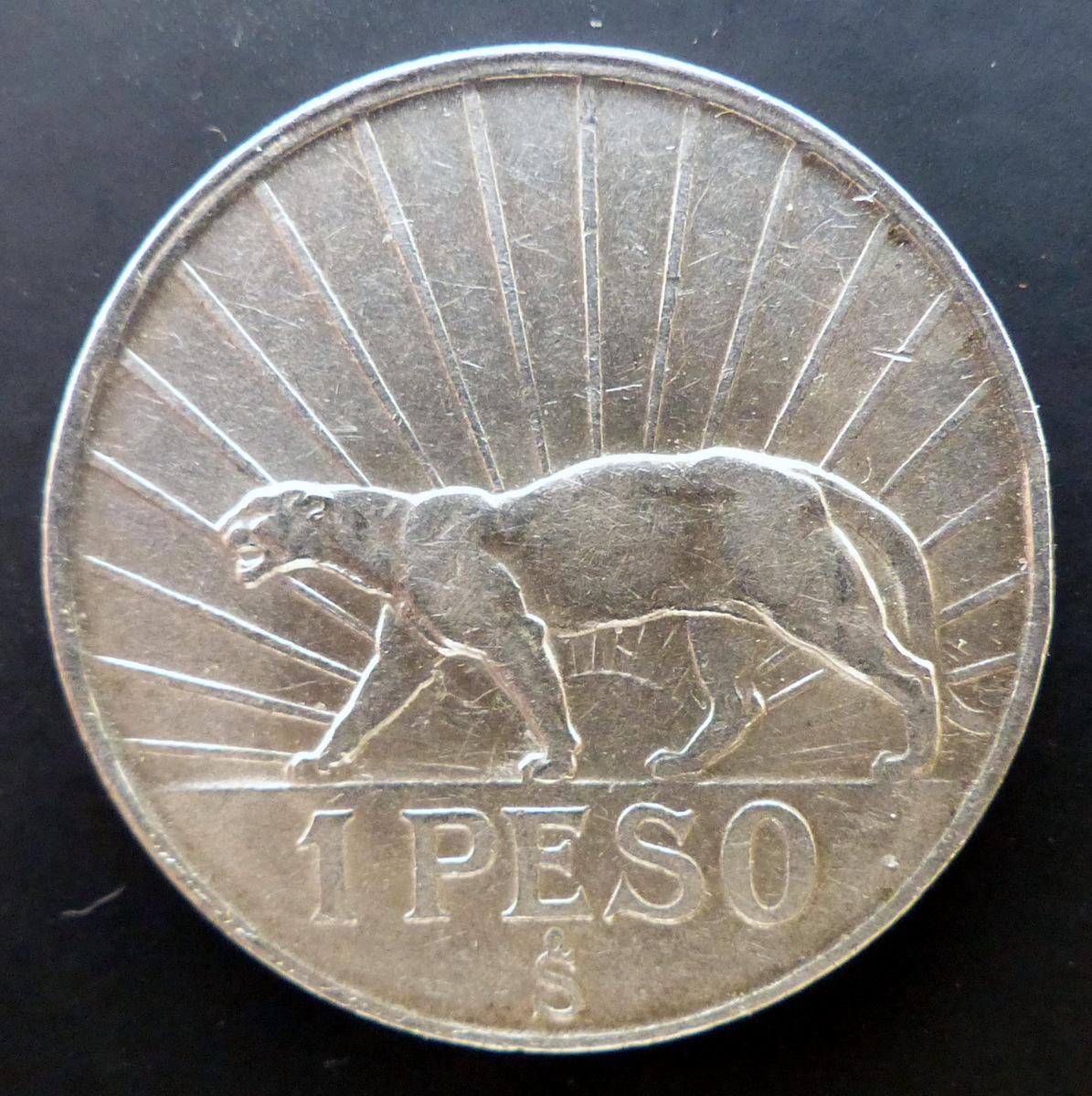 """Uruguay - 1942 - Un peso - """"El puma"""" 1_peso_a"""
