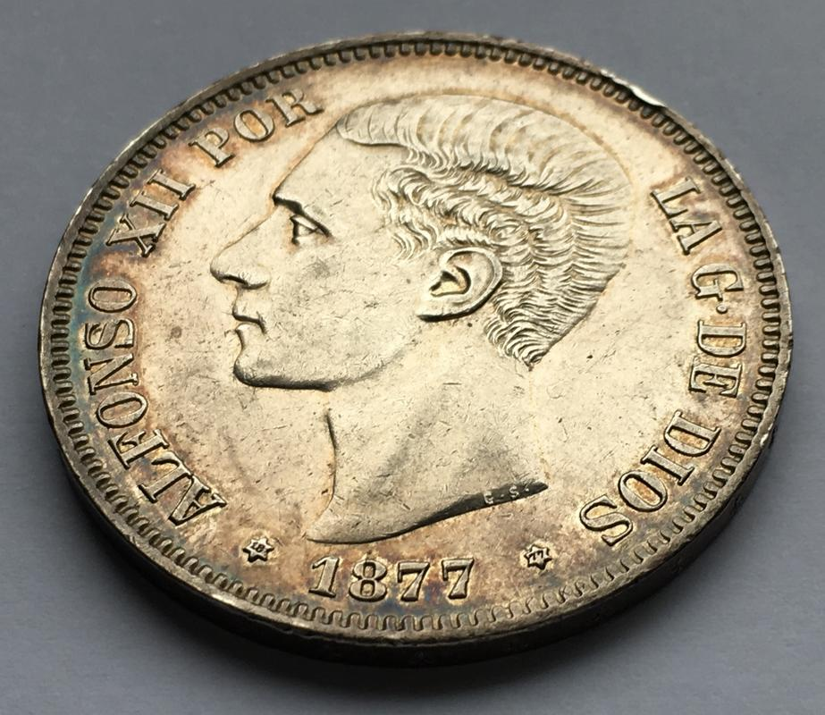 5 pesetas 1877. Alfonso XII IMG_9940