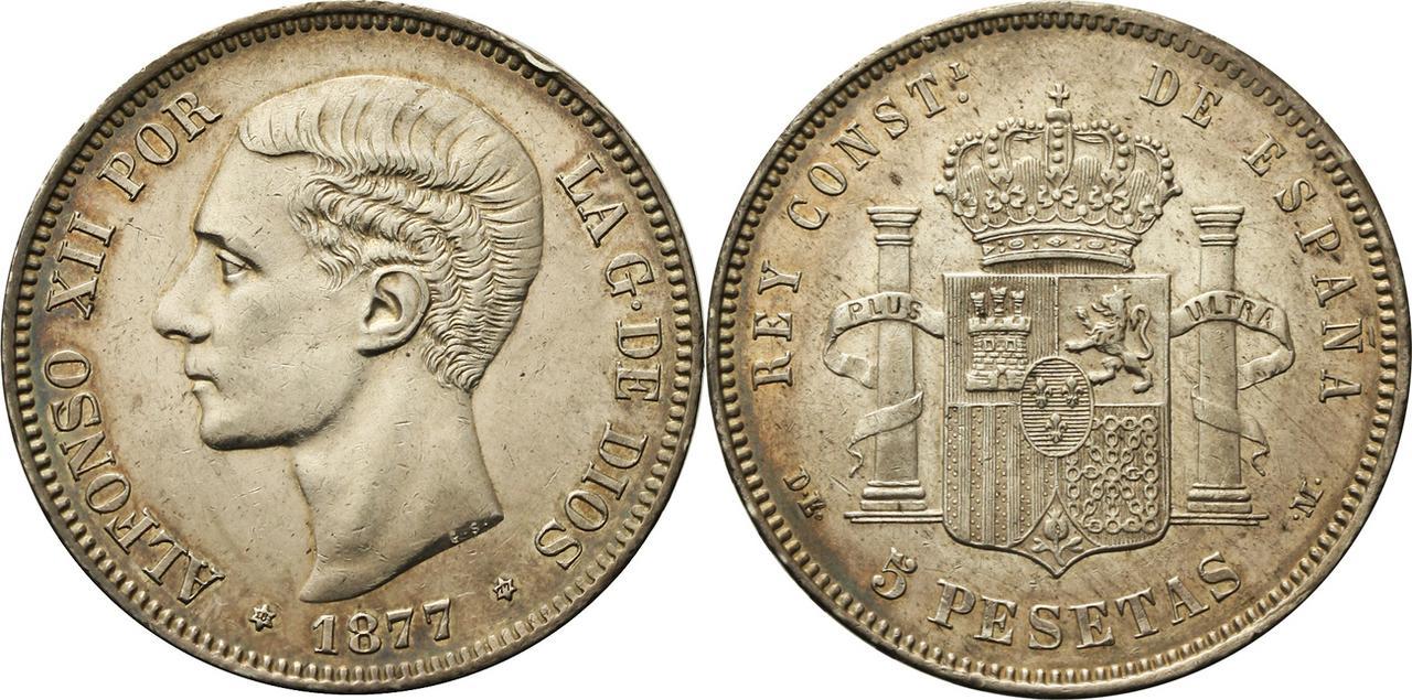 5 pesetas 1877. Alfonso XII IMG_9669