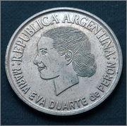 Argentina - 2 pesos 2002- 50 Aniversario - Muerte de María Eva Duarte de Perón P1040084