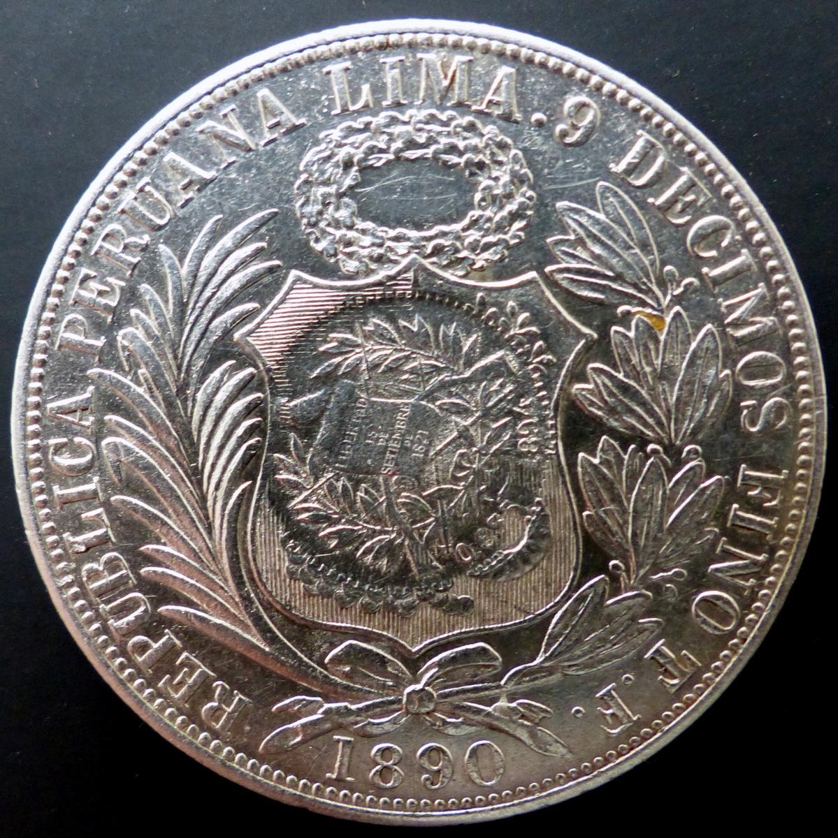 Perú - Un sol - 1890 - Resello 1/2 real - Guatemala - 1894 Un_sol_1890_r