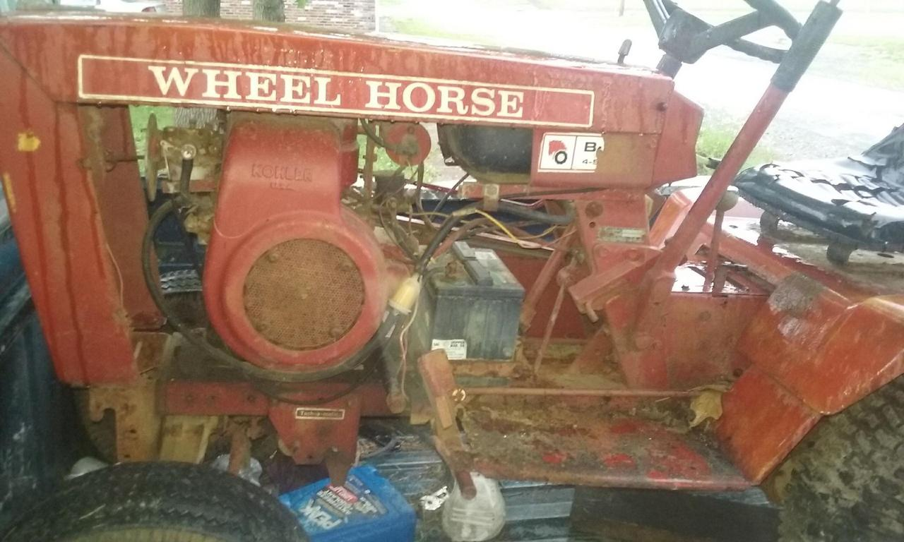 our 1st wheelhorse mud mower 32810432_764879167235354_6838813637293899776_n