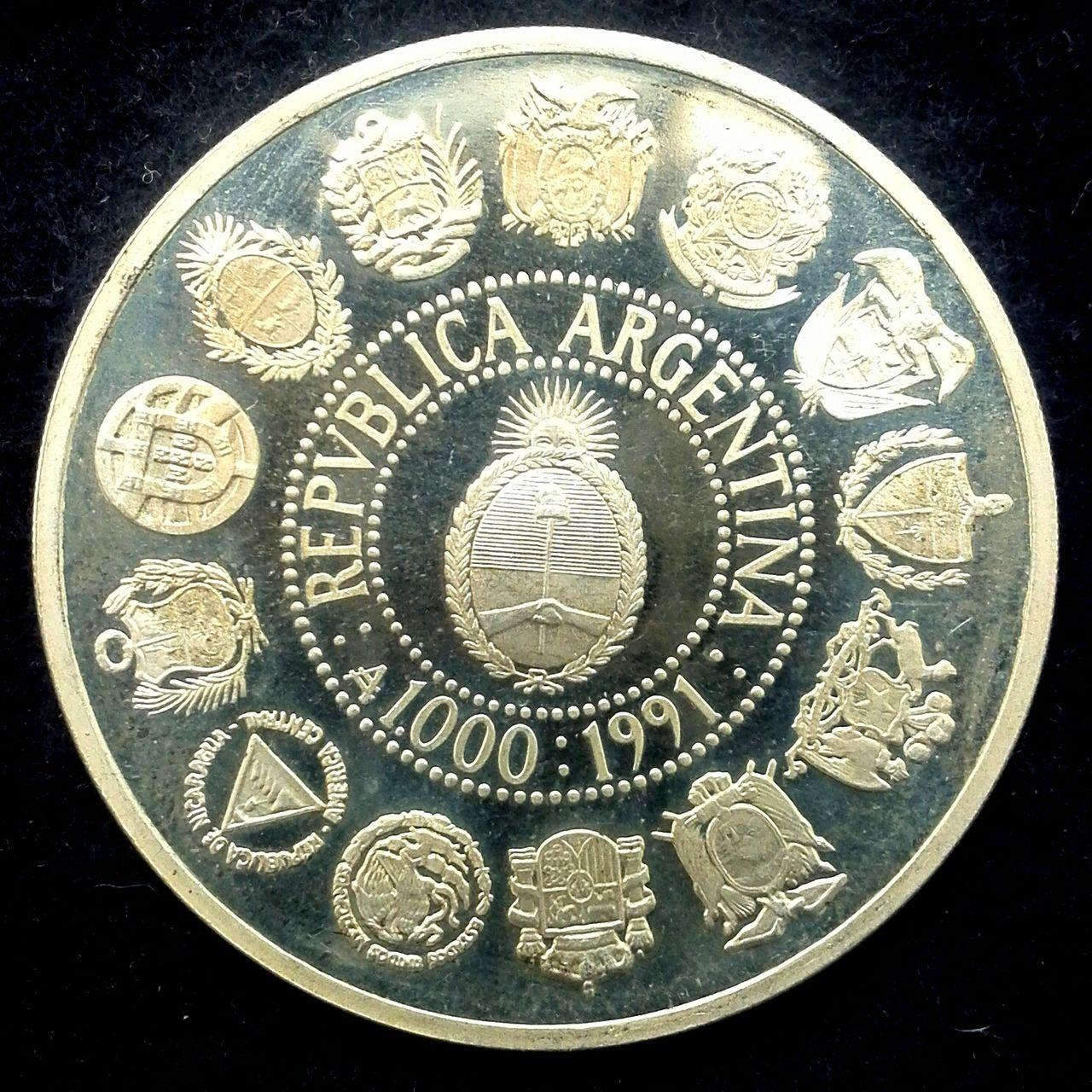 Argentina - 1000 australes - 1991 - I Serie Iberoamericana - Dedicada a Flekyangel IMG_20140602_100855