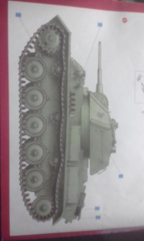 Легкий танк т80.  MiniArt 20180511_161324