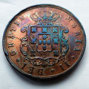Portugal - XX reis Maria II - 1852  20_reis-1852-r