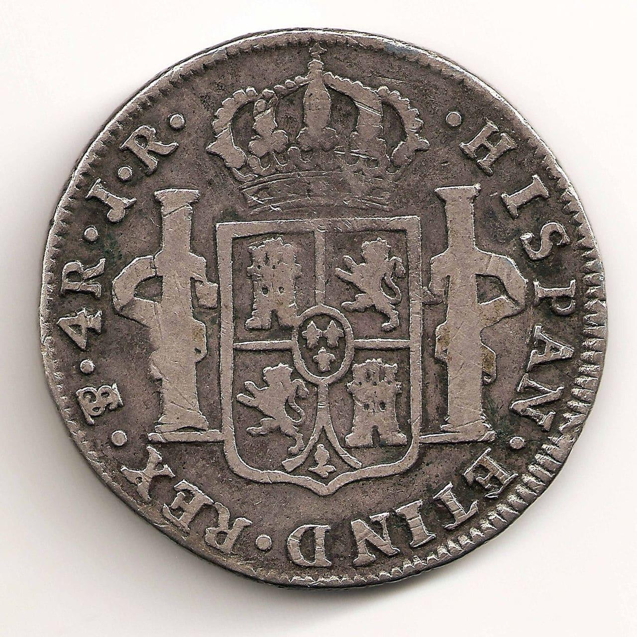 4 reales de potosi de carolus III 1774 57_3