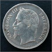 Francia - 5 Francos - 1870 - Napoleón III 5_francos_1870_a