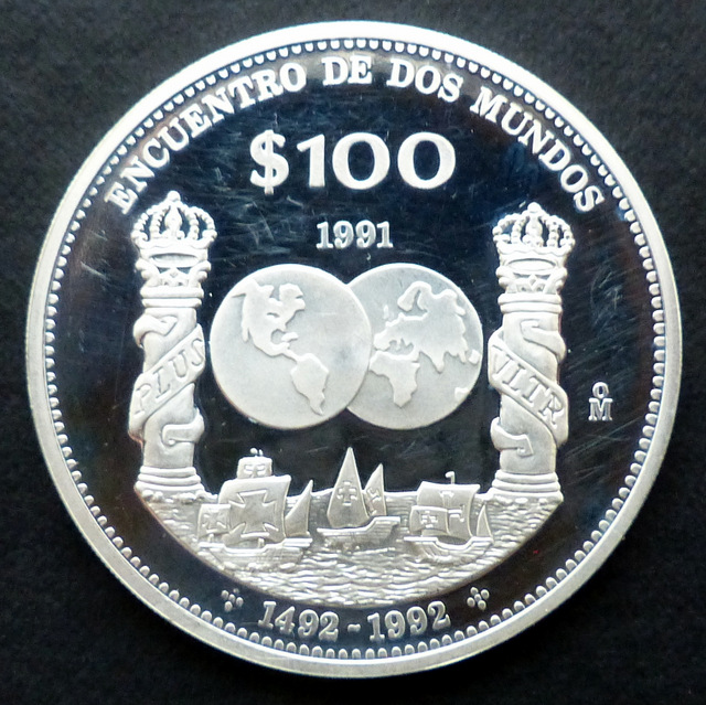 """México - 100 pesos (1991) - """"Columnario"""" Me_xico_100_a"""