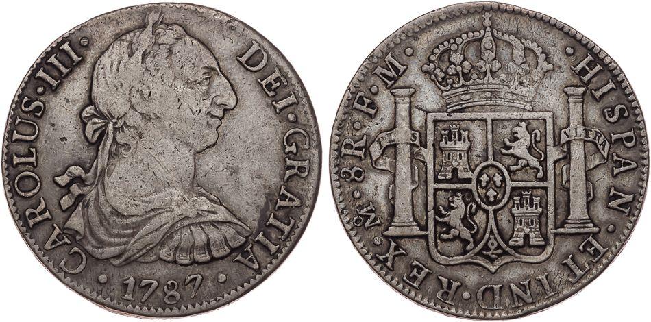 8 Reales 1787 México Carlos III 2409_1