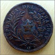 Paraguay - 4 centésimos - 1870 4_cents-r