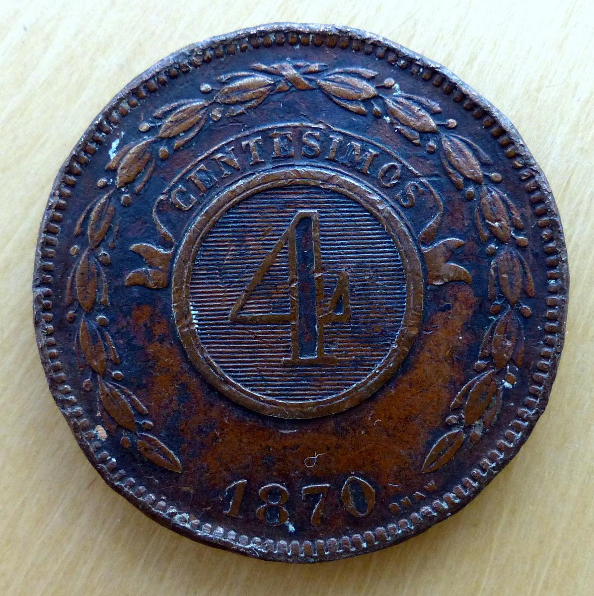 Paraguay - 4 centésimos - 1870 4_cents_a