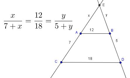 Semelhança de triângulos 100000