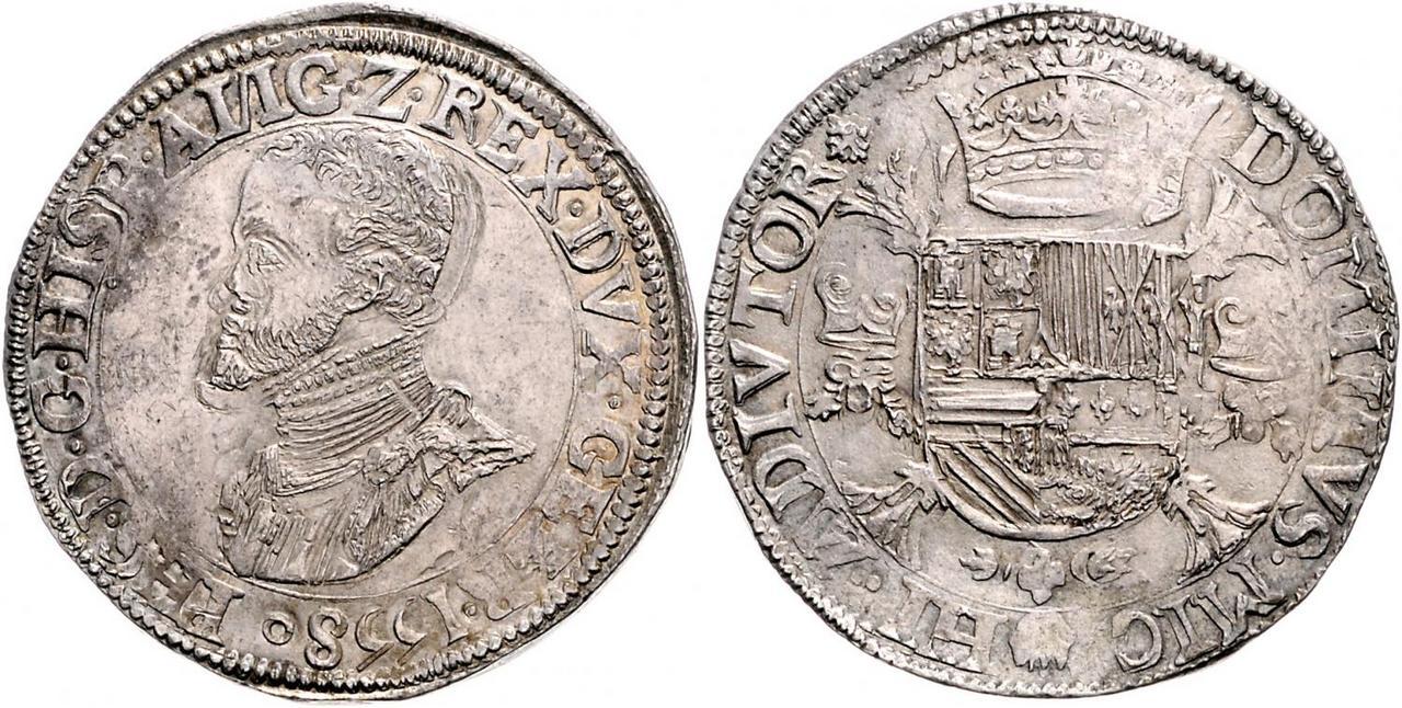 Escudo de Felipe II. 1558. Nimega (Ducado de Güeldres) 3285342l
