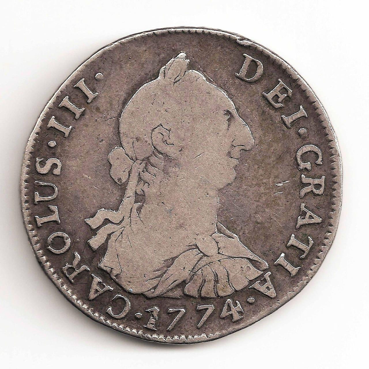 4 reales de potosi de carolus III 1774 57_2