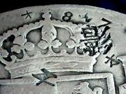8 reales 1808. Carlos IV. México. Resellos chinos Imagen_007